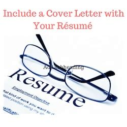 Sample cover letter with a resume